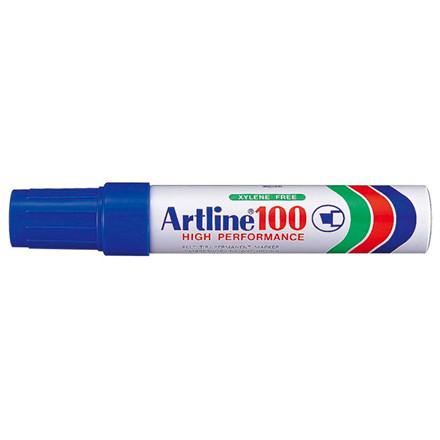 Artline 100 Jumbo Marker - Permanent blå 7-12 mm firkantet spids