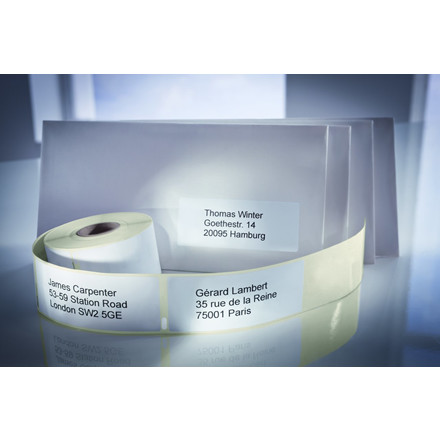 Avery AS0722370 - Adresseetiketter til etiketprinter 89 x 28 mm - 2 ruller