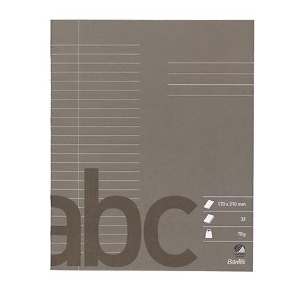 Bantex skolehæfte 17 x 21 cm - Antracitgrå Linjeret med 24 linjer - 32 sider