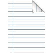 Bantex skolehæfte A4 - Lys blå linjeret med 32 linjer - 40 sider
