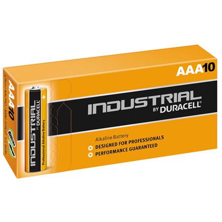 Batteri AAA Duracell Industrial - 10 stk. i en pakke