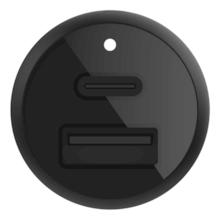 Belkin 30W PD Dual Car Charger, Black (18W USB-C&12W USB-A)