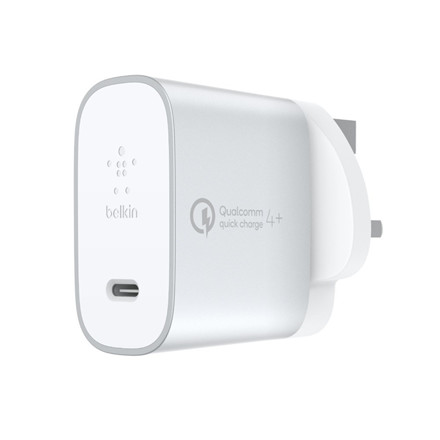 Belkin BOOST CHARGE USB-C Home Charger w/QC Cable, Silver