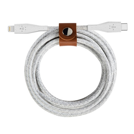 Belkin DuraTek Plus Lightning to USB-C Cable, White (1.2m)