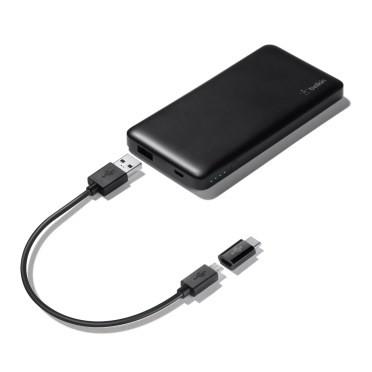Belkin Pocket Power 5K Power Bank w/USB-C to MicroUSB Adapter, Blac