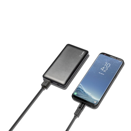 Belkin Pocket Power 5K + USB-C to Micro-USB Adapter, Black
