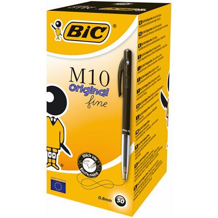 BIC M10 Clic Kuglepen - Sort fine 0,35 mm stregbredde 51630