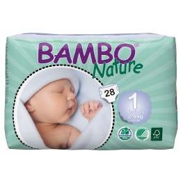 Bleer med tape Bambo Nature Newborn 2-4 kg - 1 STK