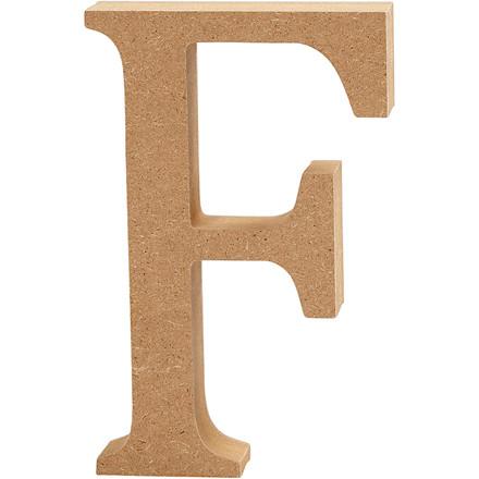 Bogstav højde 8 cm tykkelse 1,5 cm MDF   F