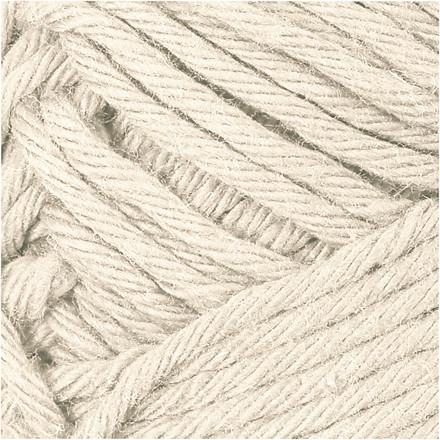 Bomuldsgarn længde 80-85 meter beige maxi | 50 gram