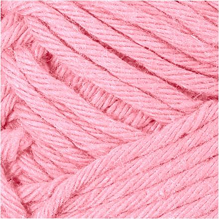 Bomuldsgarn længde 80-85 meter lys rød maxi | 50 gram
