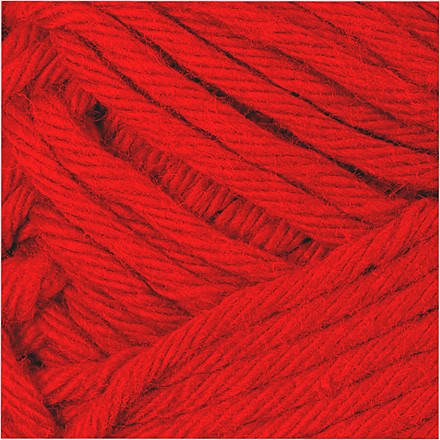 Bomuldsgarn længde 80-85 meter rød maxi | 50 gram