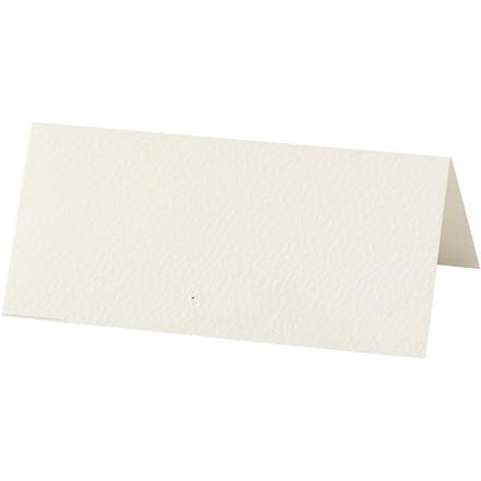 Bordkort, råhvid, str. 9x4 cm, 220 g, 10stk.