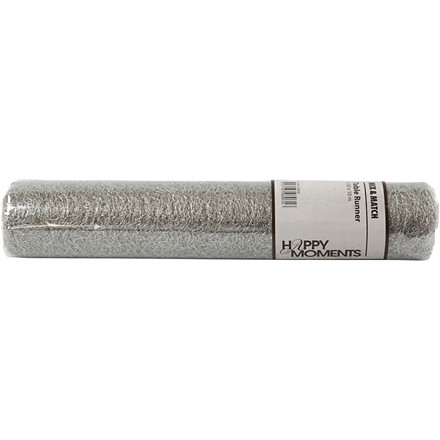 Bordløber bredde 30 cm sølv net - 10 meter