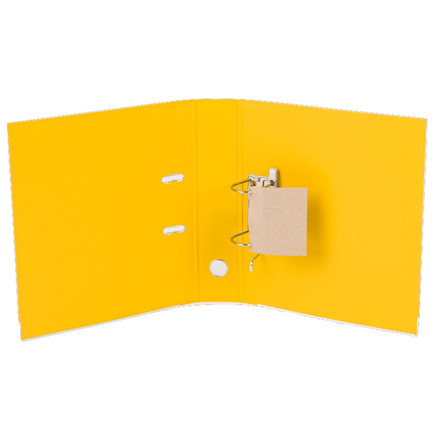 Brevordner - Q-Line A4 gul 75 mm bred ryg