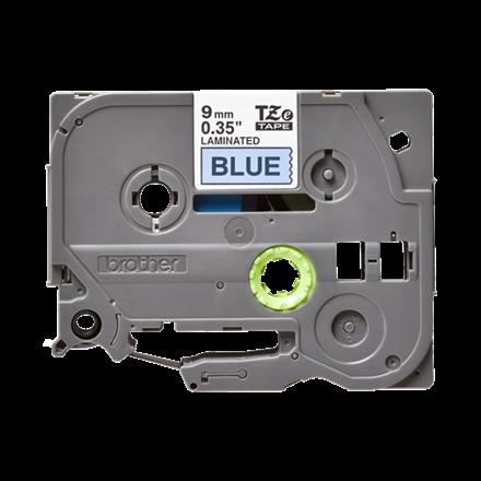 Brother TZe 521 - Etikettape 9 mm sort på blå
