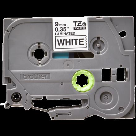 Brother TZe221 - Labeltape 9 mm sort på hvid lamineret