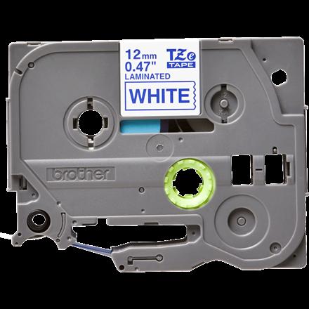 Brother TZe233 - Labeltape 12 mm blå på hvid lamineret