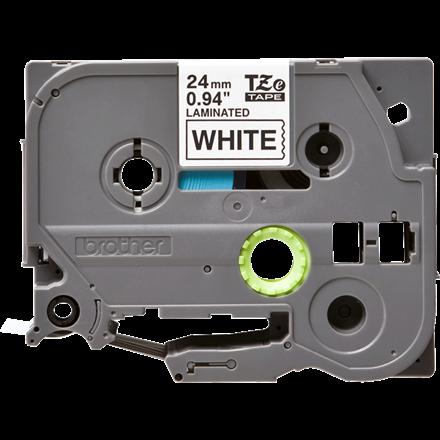 Brother TZe251 - Labeltape 24 mm sort på hvid lamineret