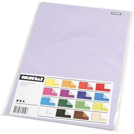 Color Bar rivekarton, A4 21x30 cm, 250 g, ensfarvet karton, 16ass. ark