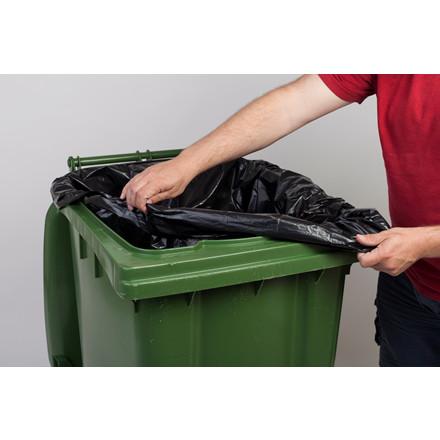 Containersæk i sort plastik - 1240 x 1510 mm 240 liter