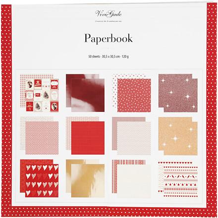 Designpapir i blok, str. 30,5x30,5 cm, 50 sider, Copenhagen, 50ark
