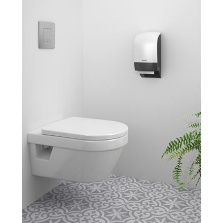 Katrin 104582 System Toilet Dispenser til toiletpapir - Hvid plast