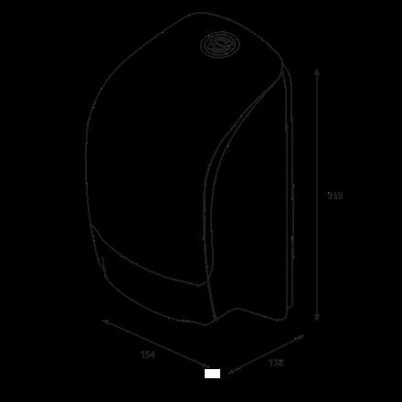 Katrin 104605 System Toilet Dispenser til toiletruller - Sort plast