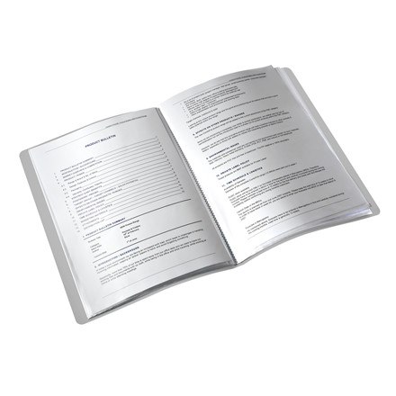 Præsentationsmappe A4 med 20 lommer Leitz Style - Sort