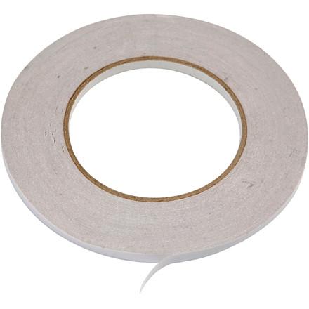 Dobbeltklæbende tape 6 mm x 50 meter, 6 ruller i pakke