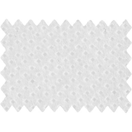 Dug af imiteret stof bredde 125 cm 70 gram/m2 hvid - 10 meter