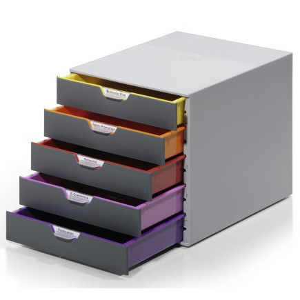Durable Varicolor skuffekabinet A4 - med 5 skuffer