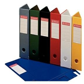 Tidsskriftholder A4 Esselte med 70 mm ryg - Hvid