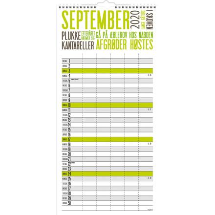 Familiekalender Trendart 22x43cm 20 0661 90