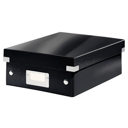 Leitz Click & Store opbevaringskasse sort - 22 x 10 x 28,5 cm