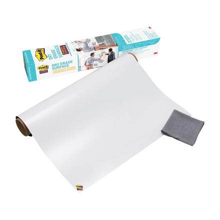 Super Sticky Dry Eraser Film - Post-it 60,9 cm. x 91,4 cm hvid