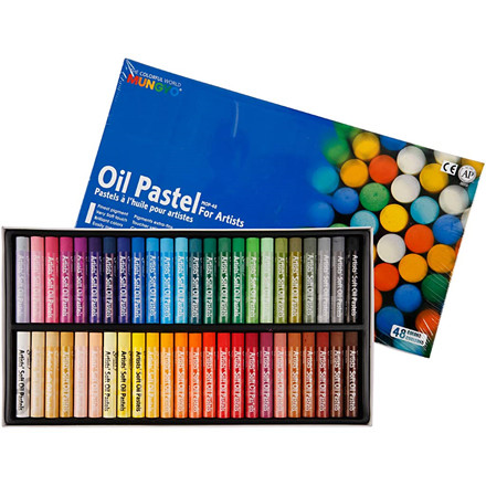 Gallery Oliepastel, tykkelse 11 mm, L: 7 cm, ass. farver, 48ass.