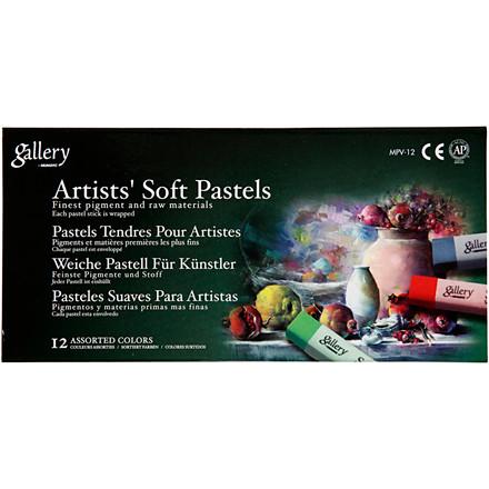 Gallery tørpastel, tykkelse 1 cm, L: 6,5 cm, ass. farver, 12ass.