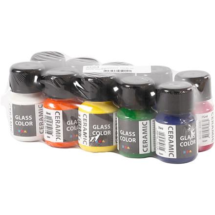 Glass Ceramic , ass. farver, 10x35ml