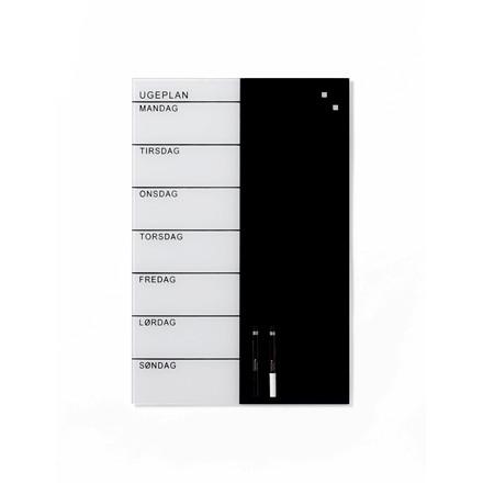 Glastavle Ugeplan - 40 x 60 cm - Magnetisk Naga ugeplanner