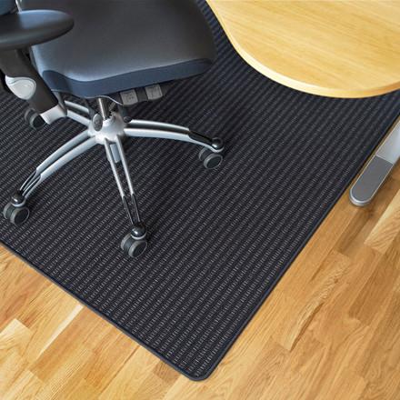 Gulvbeskytter tekstil grå og sort Foxtrot - 133 x 160 cm