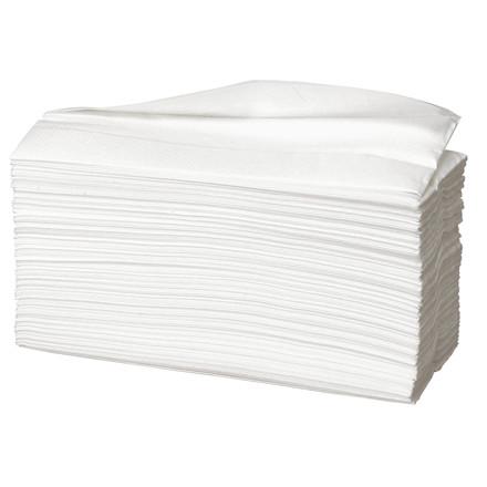 Håndklædeark Care-Ness Excellent 2-lags hvid Bredde 23 cm - Længde 31 x 9 cm
