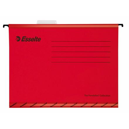Hængemapper Esselte A4 rød - 25 stk. pr. pakke