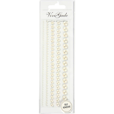 Halv-perler størrelse 2-8 mm hvid Skagen | 140 stk.