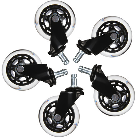 Hjul t/L33T gaming stol hvide bløde 5stk/pak