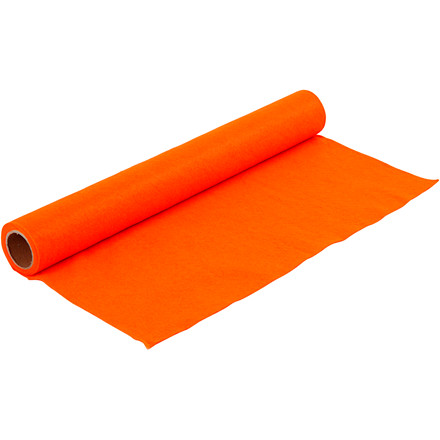 Hobbyfilt - 45 cm bred - 1 m lang - tykkelse 1,5 mm - orange