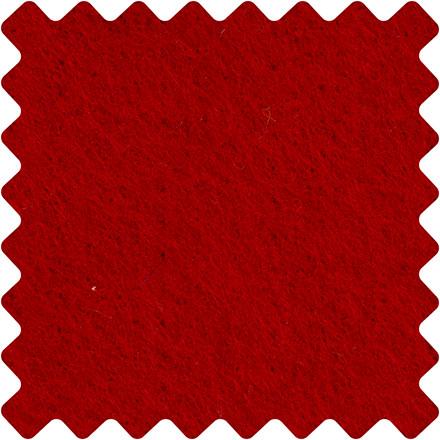 Hobbyfilt ark 42 x 60 cm tykkelse 3 mm - julerød