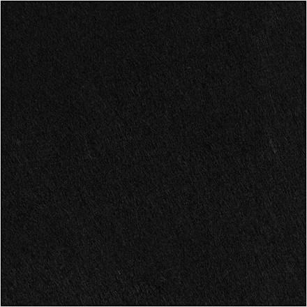 Hobbyfilt sort Bredde 45 cm tykkelse 1,5 mm - 1 meter