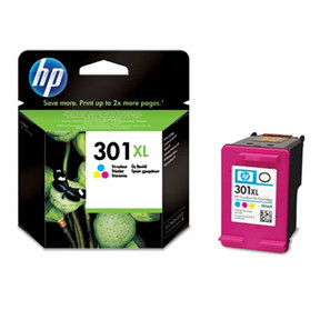 HP No301 XL color ink cartridge, blistered