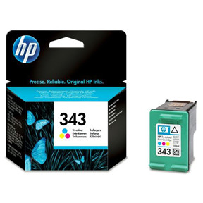 HP No343 color ink cartridge, blistered
